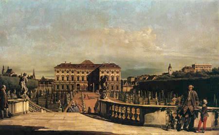 Bernardo Bellotto, Belotto (Canaletto) - The Liechtenstein Garden palace in Vienna