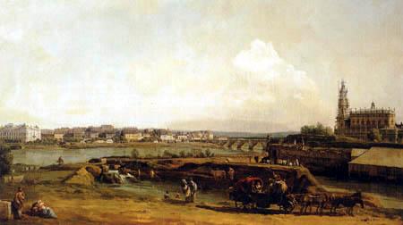 Bernardo Bellotto, Belotto (Canaletto) - Dresden from the left bank of the Elbe