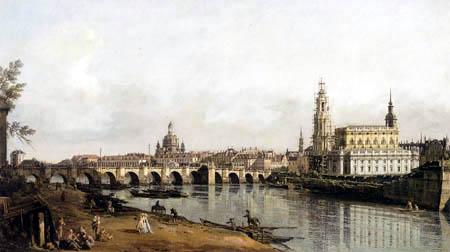 Bernardo Bellotto, Belotto (Canaletto) - Dresden from the right bank of the Elbe