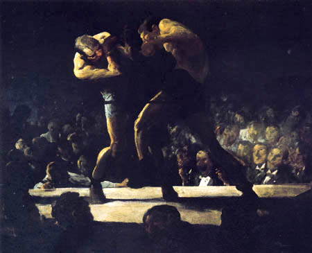 George Wesley Bellows - Club Night - The Boxing Match