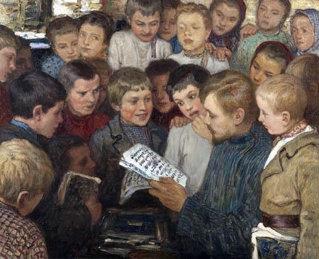 Nikolay Bogdanov-Belsky - In the village school