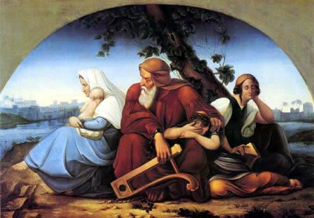 Le Samedi Saint - 20 Avril 2019 – (Images et Musique) - Tableau Poétique des Fêtes Chrétienne – Vicomte Walsh 19 eme siè Die_trauernden_juden_im_exil