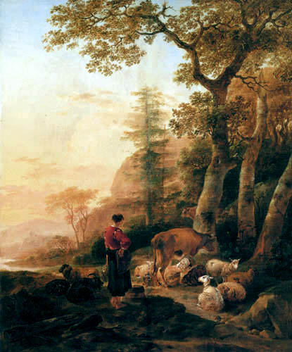 Nicolaes Berchem (Berghem, Berrighem) - Hirtinnen am Waldesrand