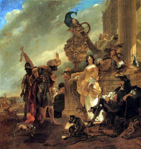 Nicolaes Berchem (Berghem, Berrighem) - Ein Handelsherr am Hafenpalast