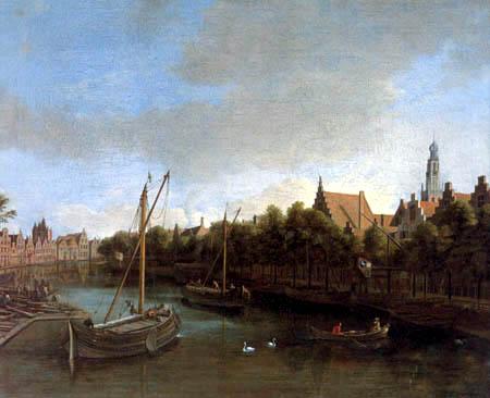 Gerrit Adriaensz. Berckheijde (Berckheyde) - Die Spaarne in Haarlem