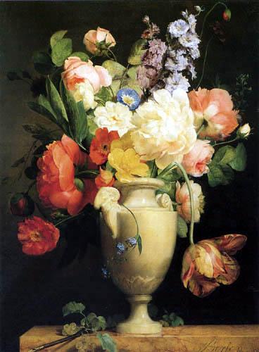 Antoine Berjon - Fleurs dans un vase