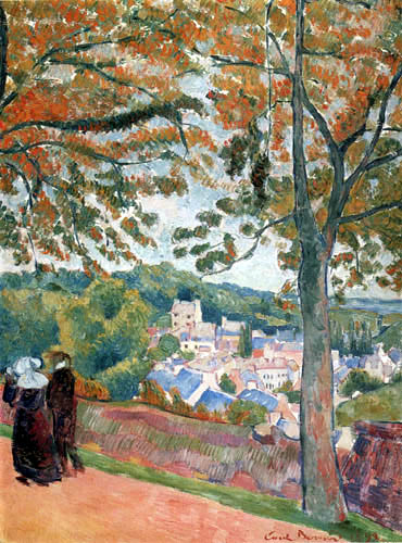 Émile Bernard - View of the Pont-Aven from the Bois d'Amour