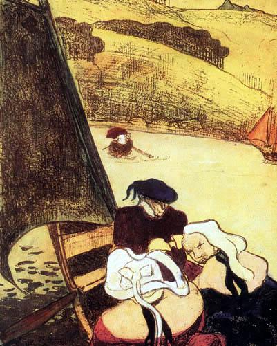 Émile Bernard - Bretonen in einem Kahn