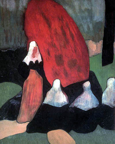 Émile Bernard - Bretonen mit Seealgen