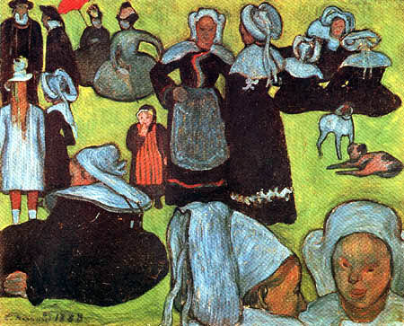 Émile Bernard - Breton Women in the Meadow