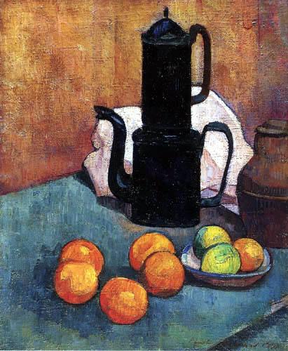 Émile Bernard - Die blaue Kaffeekanne