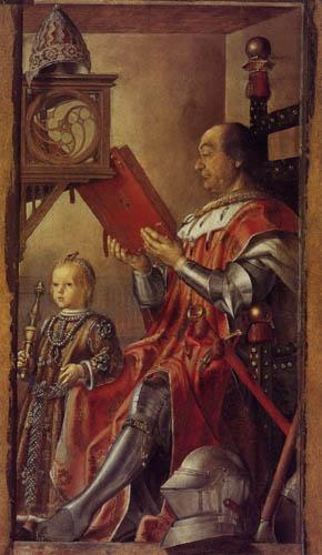 Alonso Berruguete - Federico da Montefeltro with his son