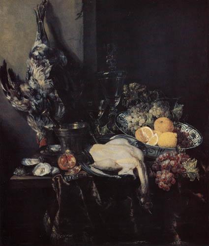 Abraham H. van Beyeren - Stillleben mit Geflügel und Früchten