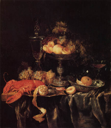 Abraham H. van Beyeren - Still life with fruits