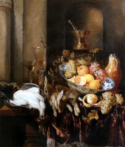 Abraham H. van Beyeren - Stillleben mit Früchten und Jagdbeute