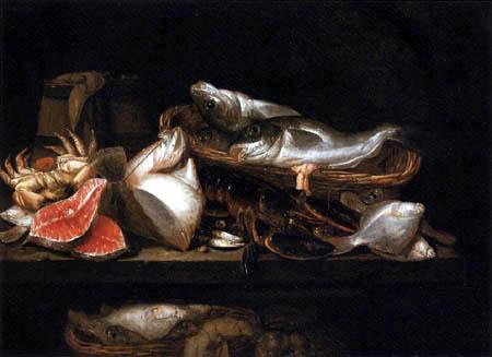 Abraham H. van Beyeren - Stilleben mit Meerestieren