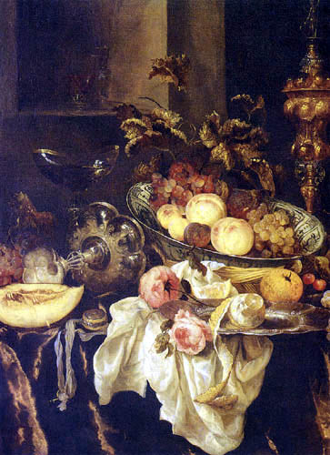Abraham H. van Beyeren - Still Life with Fruits and Flowers