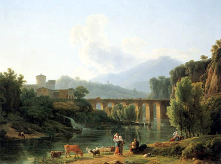Jean Joseph Xavier Bidauld - View from the Banks of Teverone and Cascade St. Cossimato