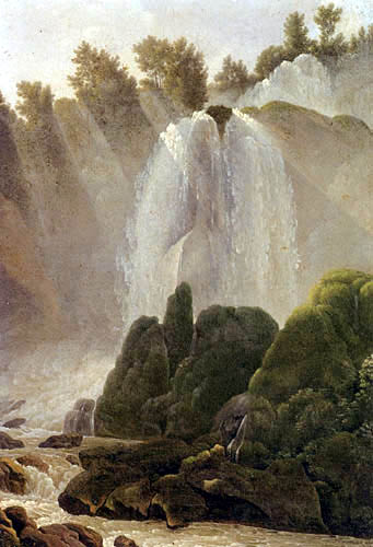 Jean Joseph Xavier Bidauld - View of the Waterfall at Tivoli