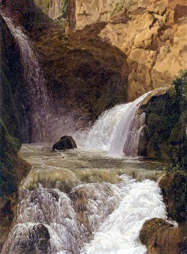 Jean Joseph Xavier Bidauld - View of the Waterfall at Tivoli