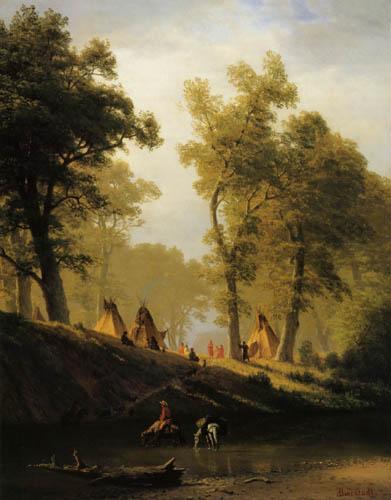 Albert Bierstadt - Wolf River , Kansas