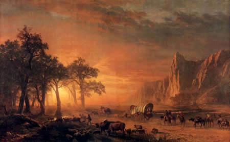 Albert Bierstadt - Emigrants Crossing the Plains
