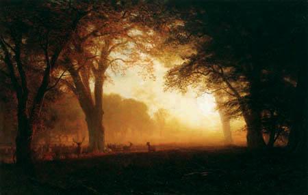 Albert Bierstadt - Goldenes Licht von Kalifornien
