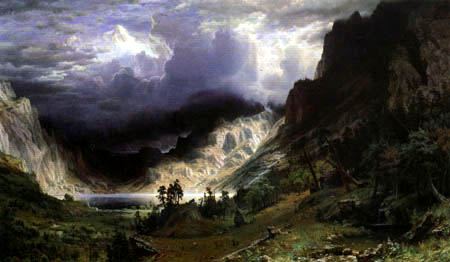 Albert Bierstadt - Sturm in den Rocky Mountains