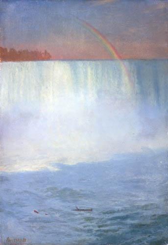 Albert Bierstadt - Regenbogen über den Niagarafällen