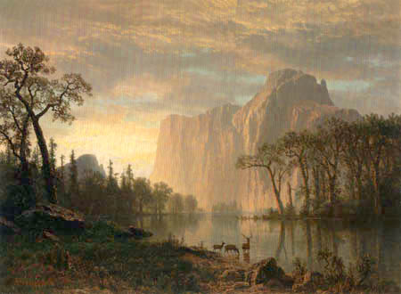 Albert Bierstadt - El Capitan, Yosemite Valley, California