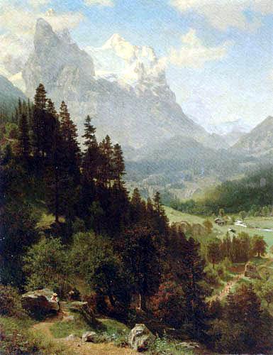Albert Bierstadt - Wetterhorn, La Suisse