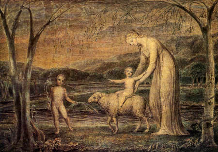 William Blake - Our Lady with the Infant Jesus Riding on a Lamb