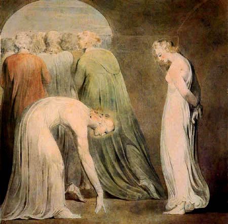 William Blake - The Woman Taken in Adultery