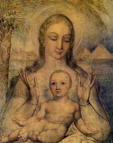 William Blake - The Virgin and the child
