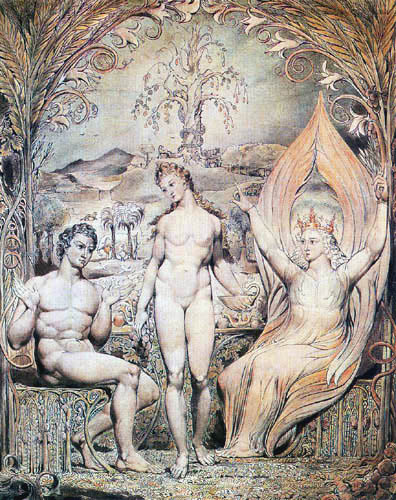 William Blake - Raphael warns Adam and Eve