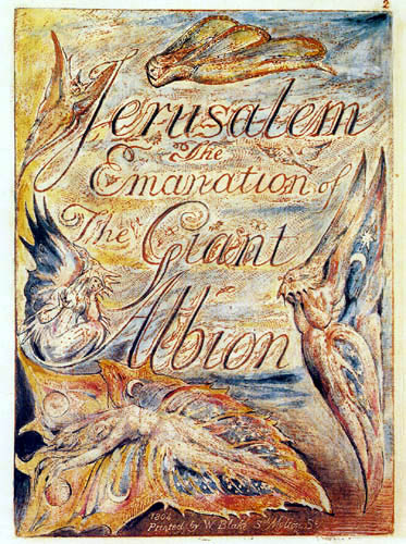 William Blake - Jerusalem: Titel Illustration