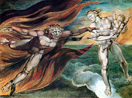 William Blake - The angels of the good and the bad