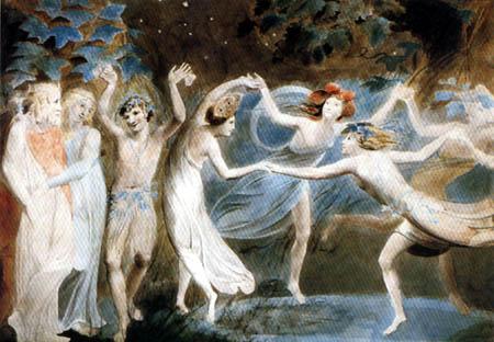 William Blake - Oberon, Titania und Puck mit tanzenden Elfen