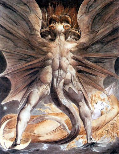 William Blake - The Great Red Dragon and the Woman Clothed in the Sun