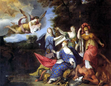 Gabriel Blanchard - Allegory of the Birth of the Dauphin and Future Louis XIV