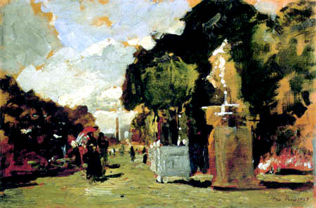 Tina Blau-Lang - A sunny day in the Tuileries Garden