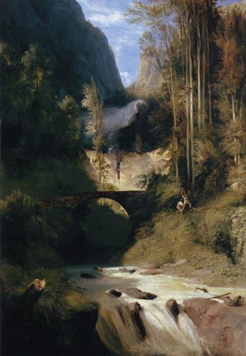 Karl Eduard Blechen - Canyon, Amalfi
