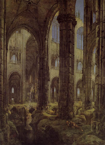 Karl Eduard Blechen - Gothical church ruin