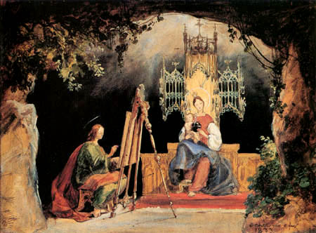 Karl Eduard Blechen - Saint Luke Painting the Madonna