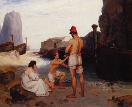 Karl Eduard Blechen - Fisher of Capri