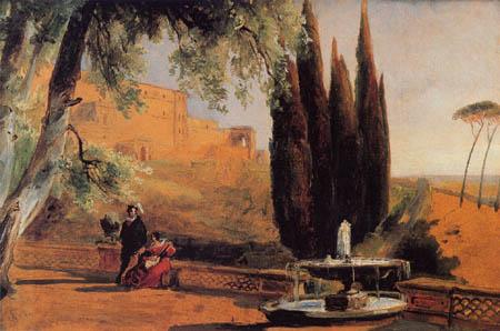 Karl Eduard Blechen - Parkterrasse der Villa dÉste, Tivoli