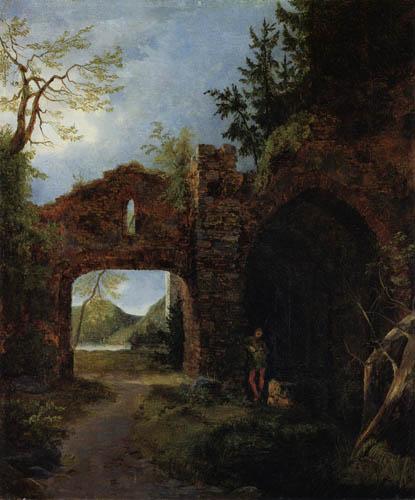 Karl Eduard Blechen - Ruinenlandschaft