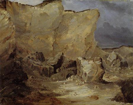 Karl Eduard Blechen - Chalk cliff