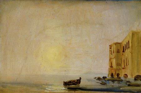 Karl Eduard Blechen - Sonne über dem Meer