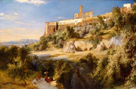 Karl Eduard Blechen - View of Assisi